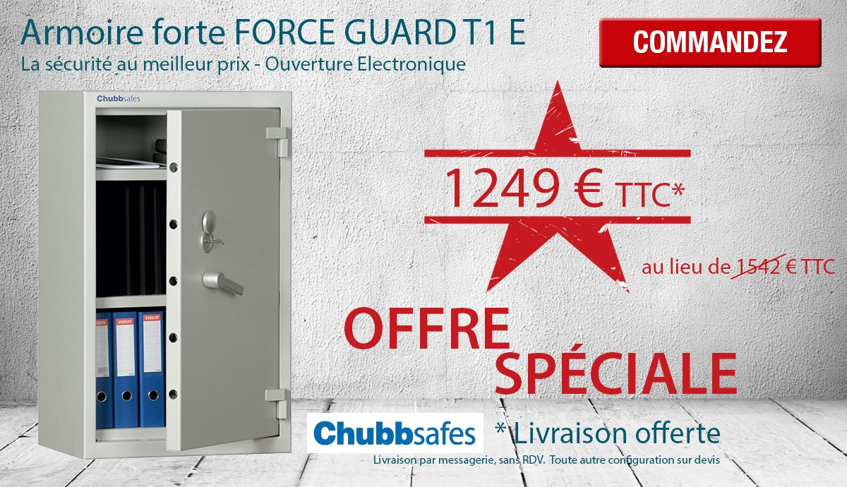 Armoire forte FORCE GUARD T1 E