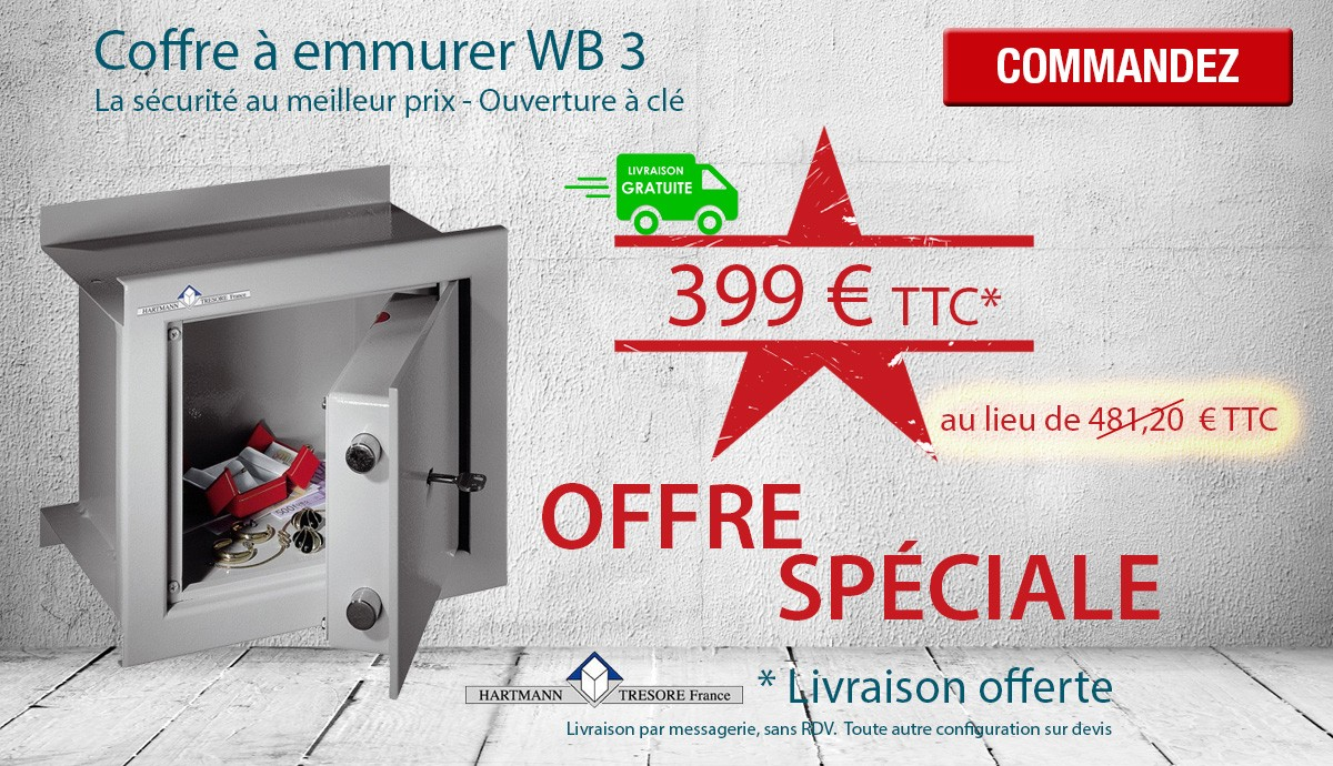 Hartmann Tresore - WB 3 - Coffre fort à emmurer