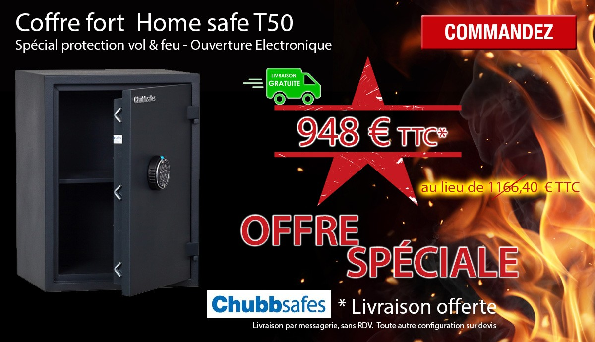 Chubb Safe - Home Safe T50 - Coffre fort ignifuge