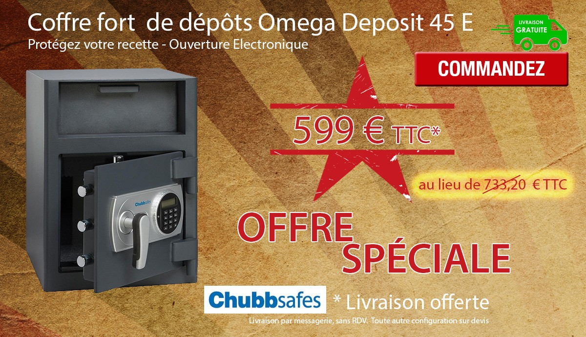 Chubb Safes - OMEGA DEPOSIT 45 - Coffre de dépôt
