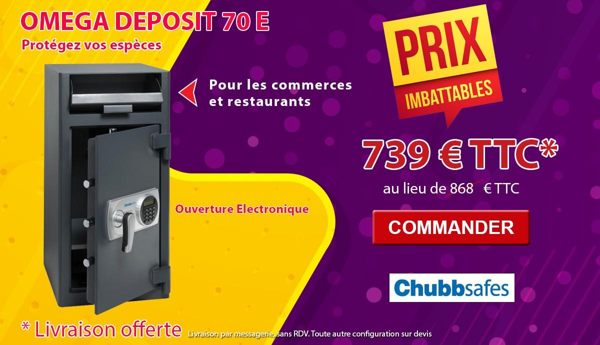 Chubbsafes - OMEGA DEPOSIT 70 - Coffre de dépôt