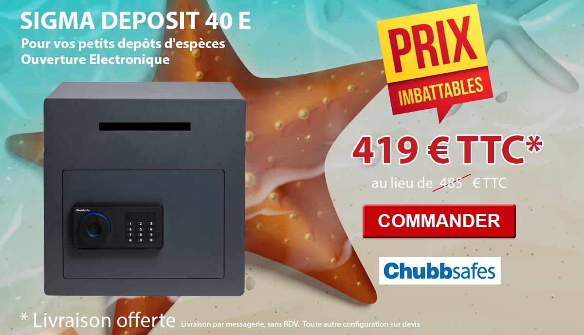 Chubbsafes - SIGMA DEPOSIT 40 - Coffre de dépôt